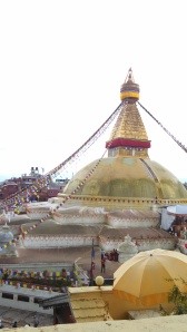 View of Boudhanath Stupa from Rooftop Cafe