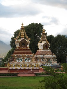 Stupas at Kopan Monastery