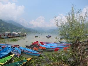 View of Fewa Tal from Lakeside, Pokhara