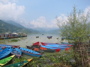 View of Fewa Tal from Lakeside, Pokhara