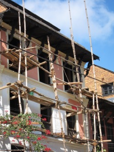 Historic Newari House Under Restoration