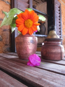 "Still Life at Ke Garne Cafe (Ke Garne means ""What to do?"" in Nepali)"