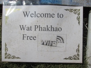 Free WiFi at a Buddhist Monastery!