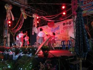 Dancers at street fair.