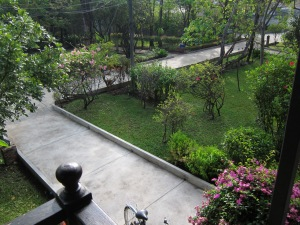 View from my balcony at Ban Thai Guest House, Mae Sot.