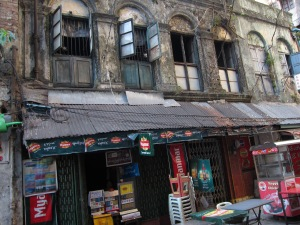 Random old building in Yangon near my hotel.