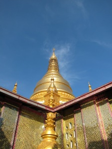 Pagoda at top of Mandalay Hill.