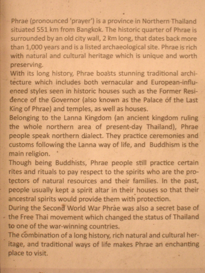 From document at Vongburi House, Phrae. (Source unknown).