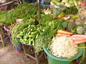 Stall at the local veggie market.
