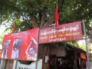 Local Headquarters of the National League for Democracy, in Nyaung U.