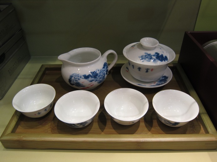 Tea set at Ong's Tea Shop in Bangkok.