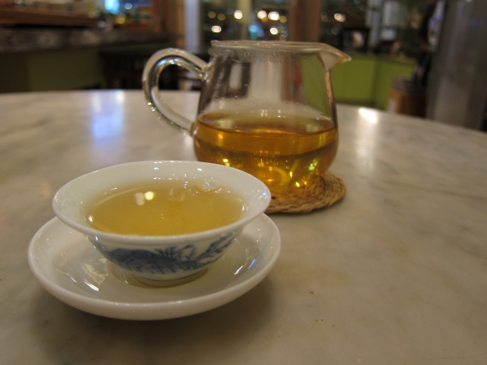 A Fujianese Oolong about to be consumed (by me).
