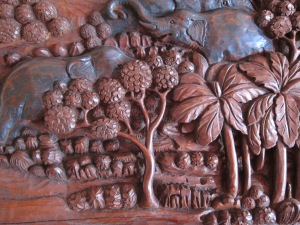 Wood carving, Wat Nong Wang.