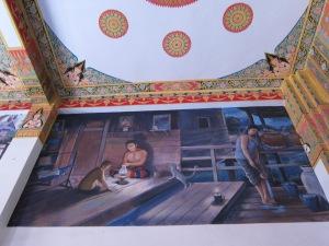 Wall mural, Wat Nong Wang.