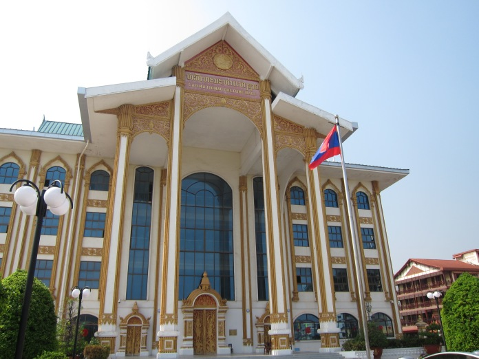 The gigantic Lao National Cultural Hall.