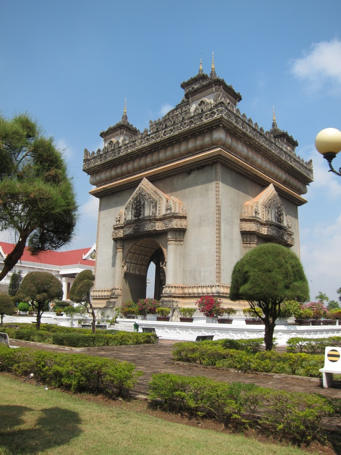Victory Monument, Vientiane's version of Paris's Arc de Triomphe.