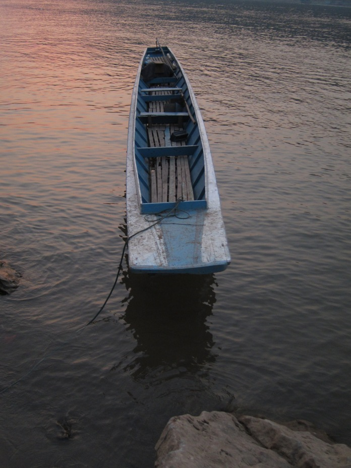 A veteran river vessel at rest after a hard day's work.