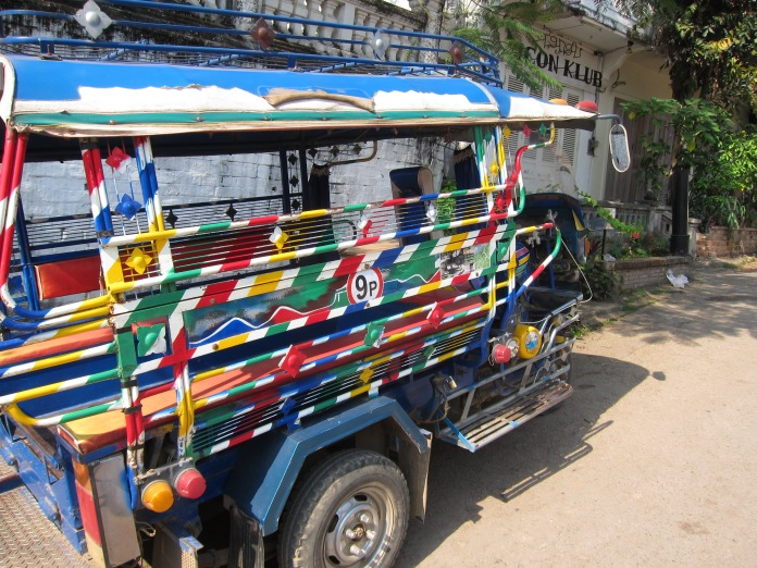 Colorful tuk tuk.