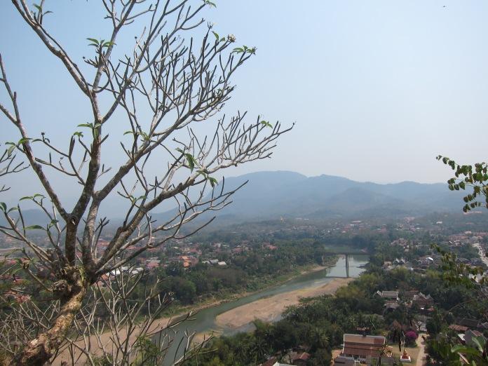 View from top of Phu Si Hill, Luang Prabang.
