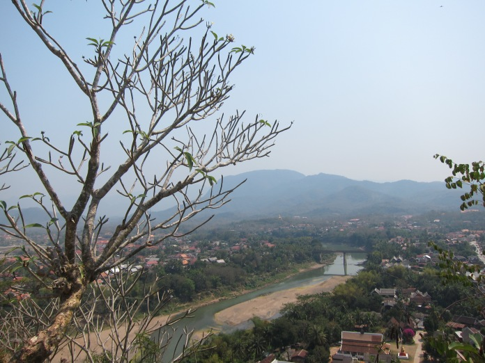 View from top of Phu Si Hill, Luang Prabang.