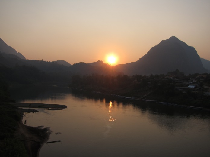 Sunset on the Nam Ou, near Nong Khiaw, Laos.