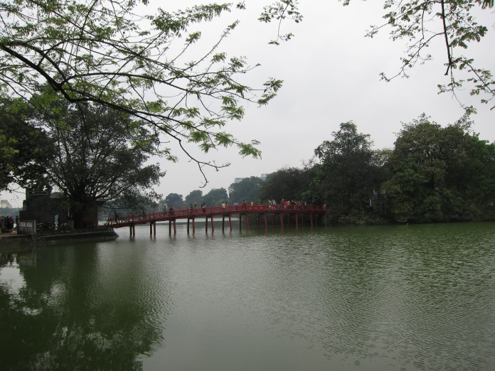 Bridge to Ngoc Son Temple.