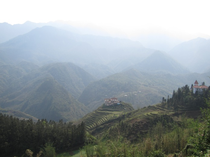 View of the valley around Sapa.