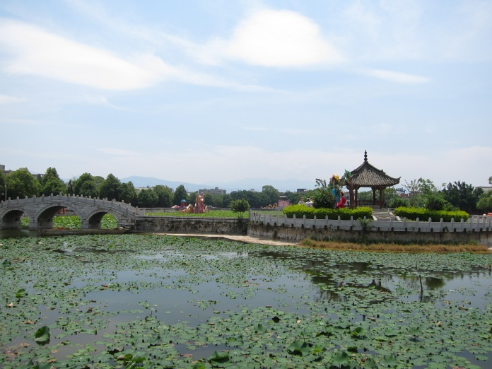 The lake on the grounds of the Confucius Temple.