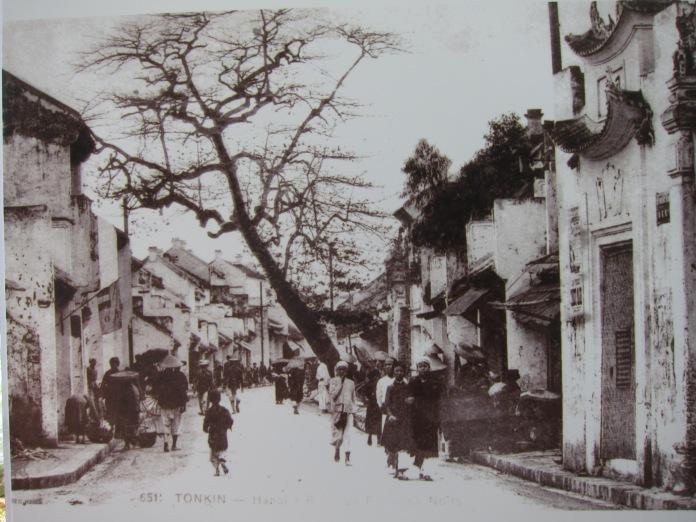 Old post card of Phố Mã Mây, Quận Hoàn Kiếm, Hà Nội.