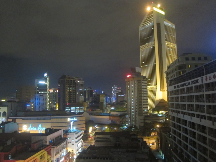 View of Kuala Lumpur, Malaysia, from my hotel room.